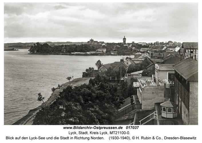 Lyck, Blick auf den Lyck-See und die Stadt in Richtung Norden
