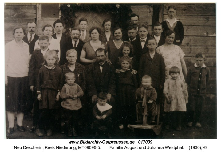 Neu Descherin,  Familie August und Johanna Westphal