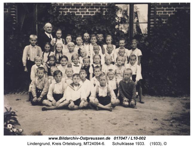 Lindengrund, Schulklasse 1933
