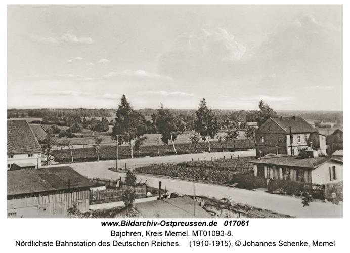 Bajohren Kr. Memel, Nördlichste Bahnstation des Deutschen Reiches