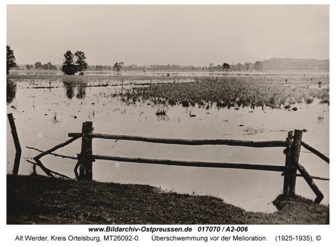 Alt Werder, Überschwemmung vor der Melioration
