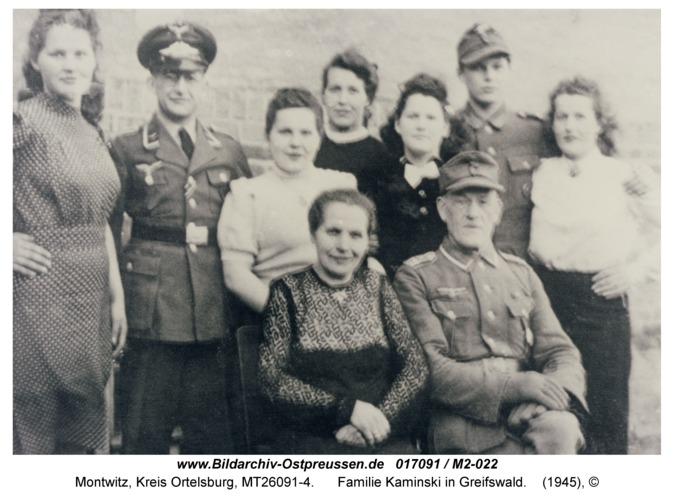 Montwitz, Familie Kaminski in Greifswald