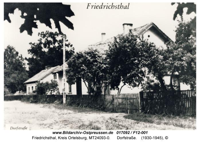 Friedrichsthal, Dorfstraße