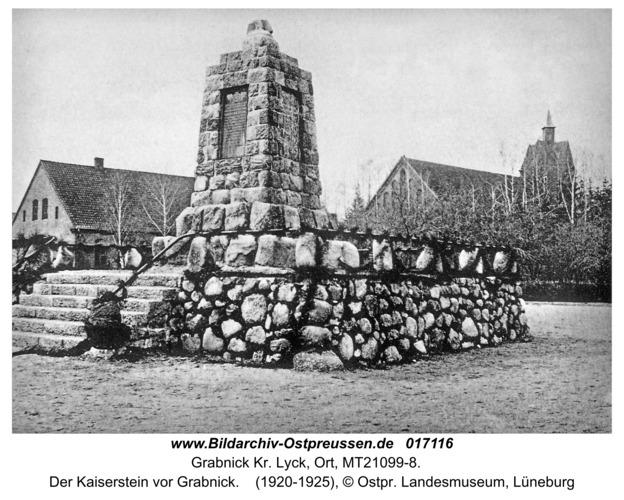 Grabnick Kr. Lyck, Der Kaiserstein vor Grabnick