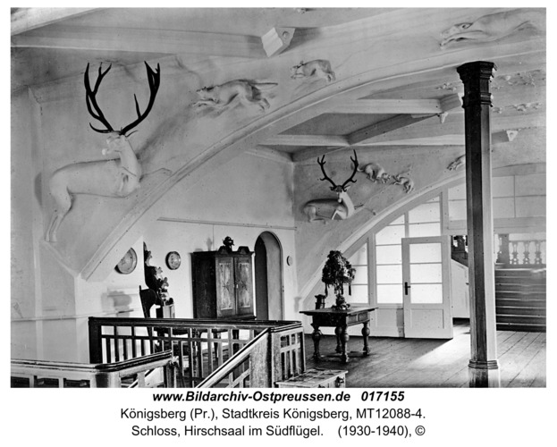 Königsberg, Schloss, Hirschsaal im Südflügel