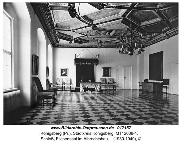 Königsberg, Schloß, Fliesensaal im Albrechtsbau