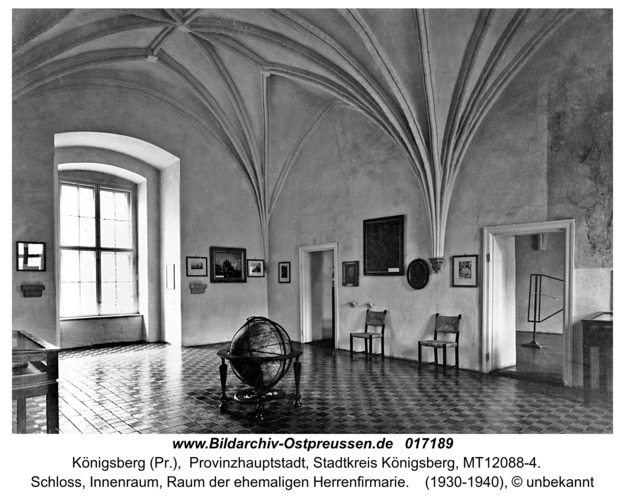 Königsberg, Schloß, Innenraum