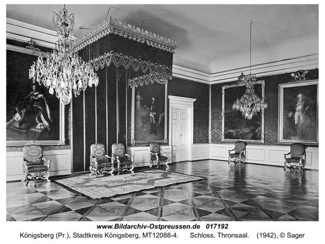 Königsberg, Schloss, Thronsaal