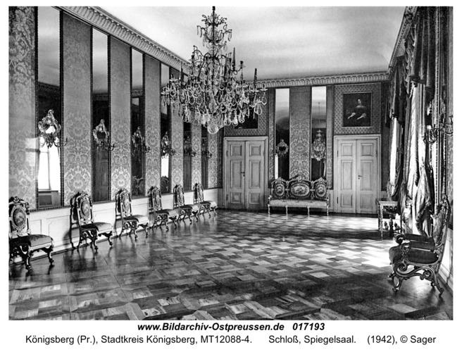 Königsberg, Schloß, Spiegelsaal