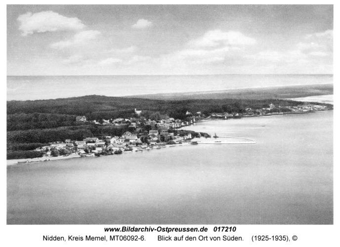 Nidden, Blick auf den Ort von Süden