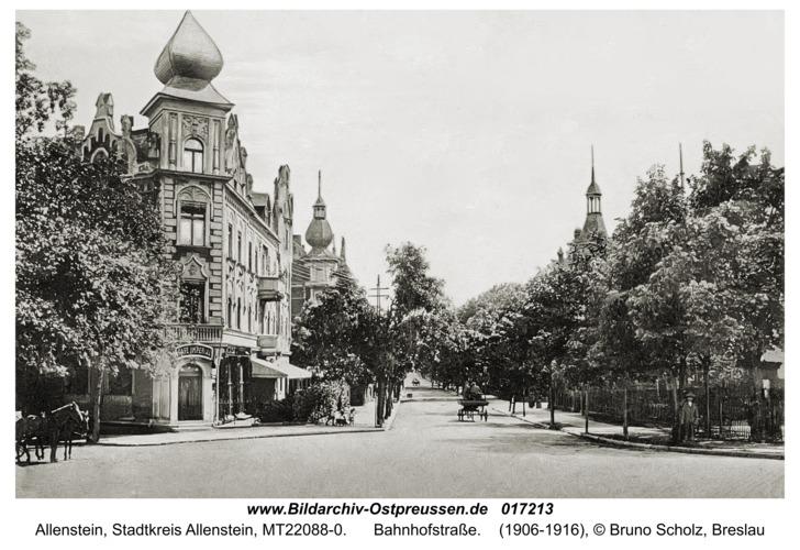 Allenstein, Bahnhofstraße