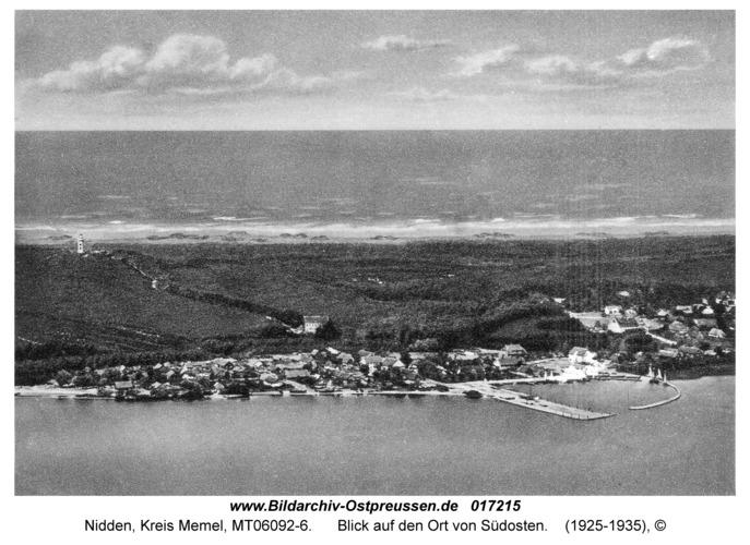 Nidden, Blick auf den Ort von Südosten