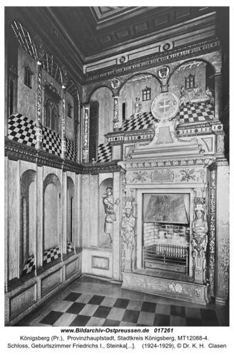 Königsberg (Pr.), Schloss, Geburtszimmer Friedrichs I., Steinkamin von Cornelis Floris