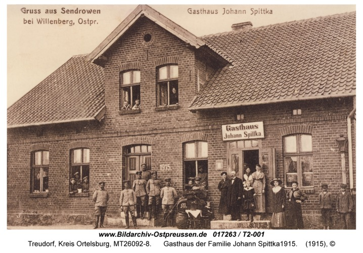 Treudorf, Gasthaus der Familie Johann Spittka1915