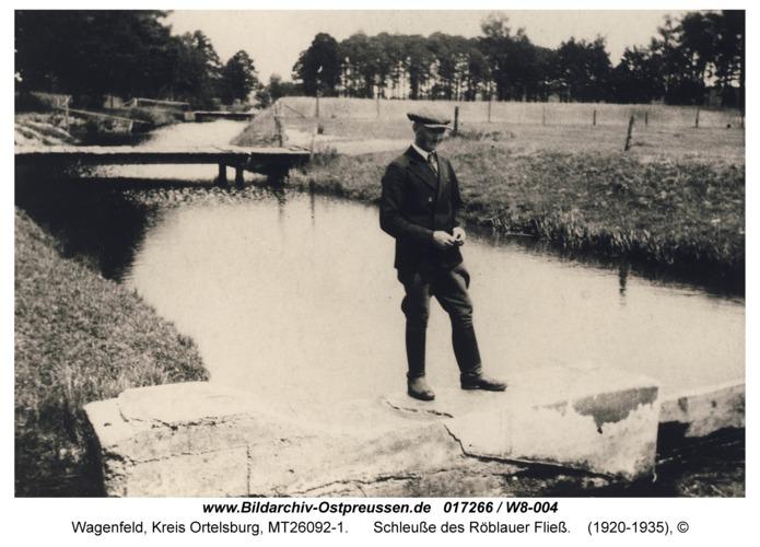 Wagenfeld, Schleuße des Röblauer Fließ