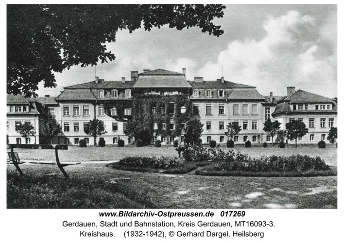 Gerdauen, Kreishaus