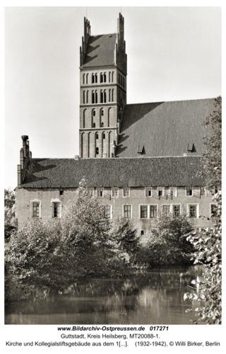 Guttstadt, Kirche und Kollegialstiftsgebäude aus dem 14. Jh.