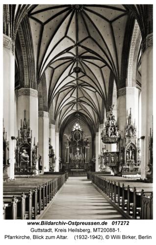 Guttstadt, Pfarrkirche, Blick zum Altar
