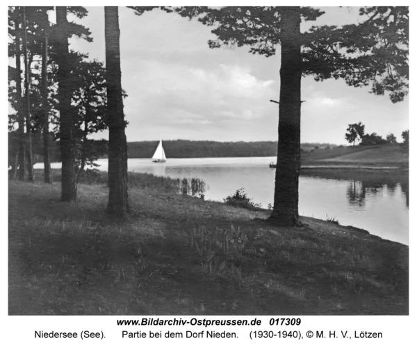 Niedersee (See), Partie bei dem Dorf Nieden