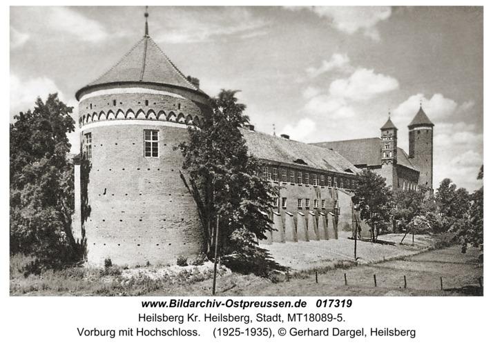 Heilsberg Kr. Heilsberg, Vorburg mit Hochschloss