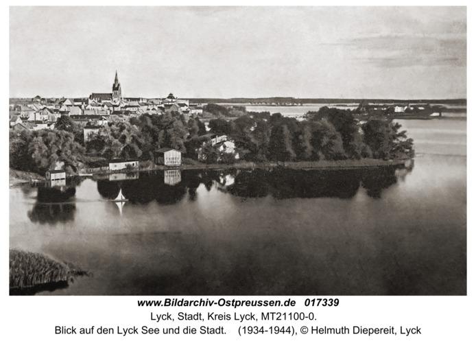 Lyck, Blick auf den Lyck See und die Stadt