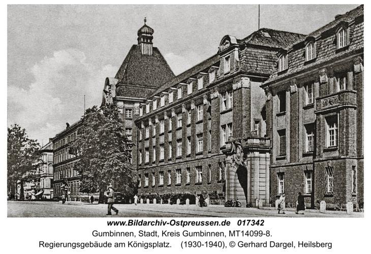 Gumbinnen, Regierungsgebäude am Königsplatz