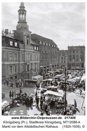 Königsberg, Markt vor dem Altstädtischen Rathaus