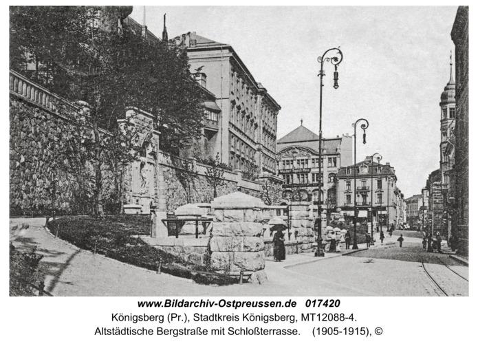 Königsberg, Altstädtische Bergstraße mit Schloßterrasse