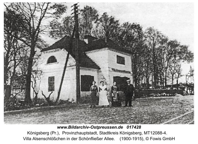 Königsberg, Villa Alsenschlößchen in der Schönfließer Allee