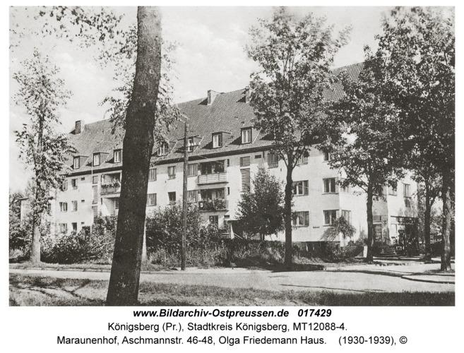 Königsberg, Maraunenhof, Aschmannstr. 46-48, Olga Friedemann Haus