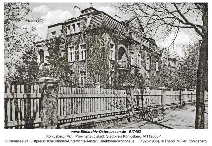 Königsberg, Luisenallee 91, Ostpreußische Blinden-Unterrichts-Anstalt