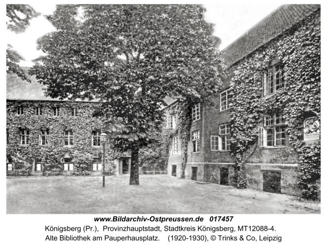 Königsberg, Alte Bibliothek am Pauperhausplatz