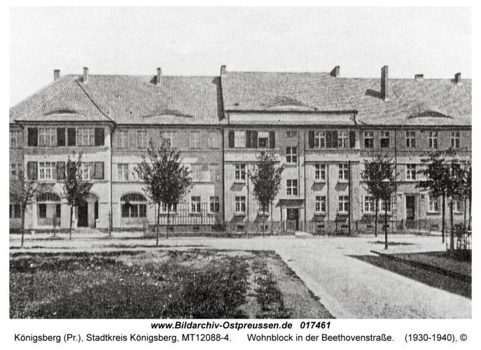 Königsberg, Wohnblock in der Beethovenstraße