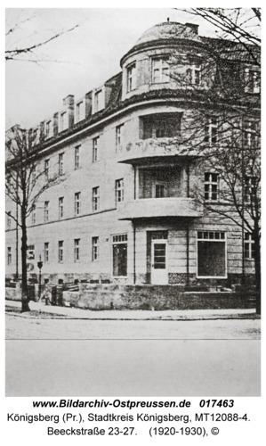 Königsberg, Beeckstraße 23-27