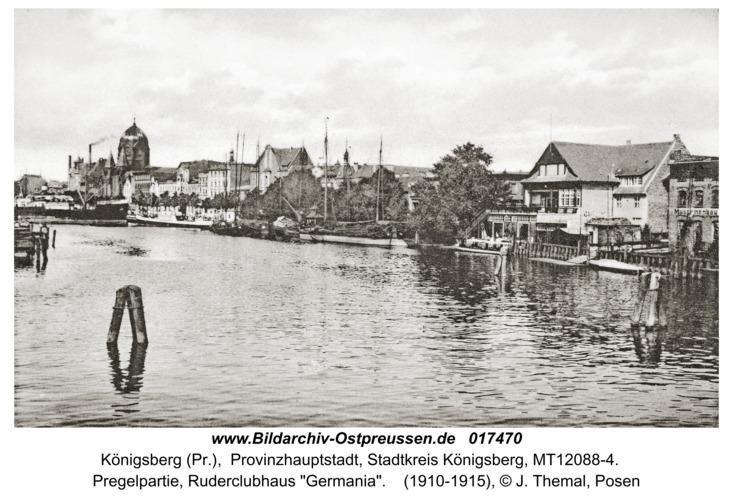"""Königsberg, Pregelpartie, Ruderclubhaus """"Germania"""""""