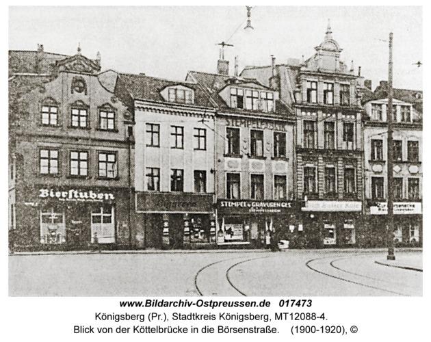 Königsberg, Blick von der Köttelbrücke in die Börsenstraße