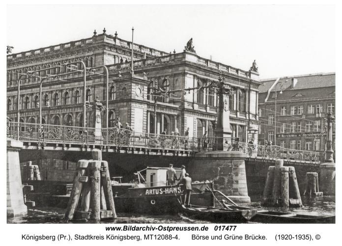 Königsberg (Pr.), Börse und Grüne Brücke