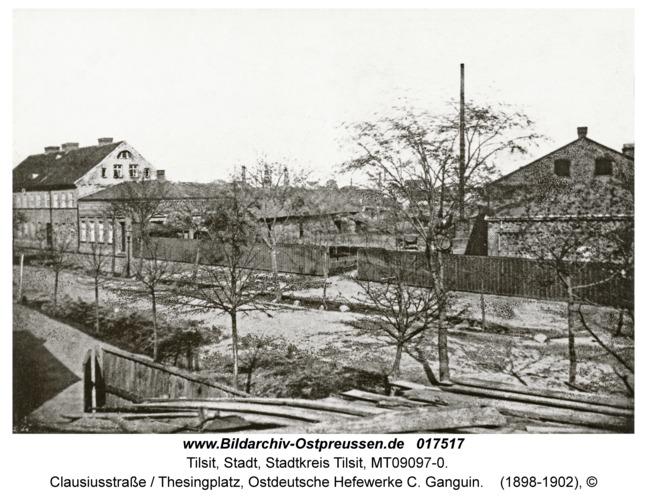 Tilsit, Clausiusstraße / Thesingplatz, Ostdeutsche Hefewerke C. Ganguin