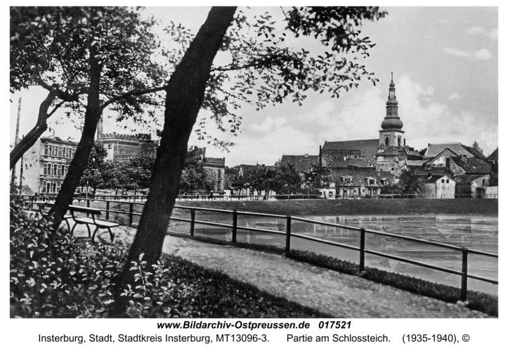Insterburg, Partie am Schlossteich