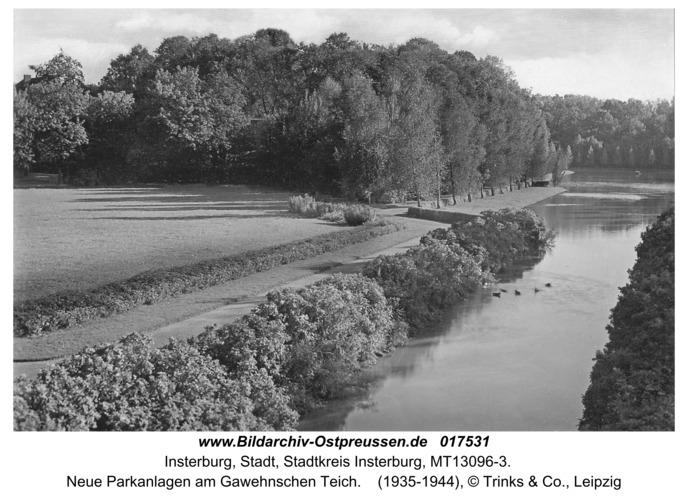Insterburg, Neue Parkanlagen am Gawehnschen Teich