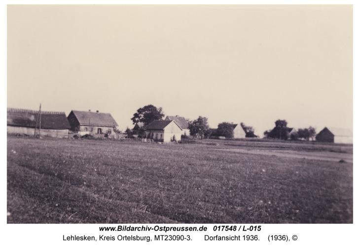 Lehlesken, Dorfansicht 1936