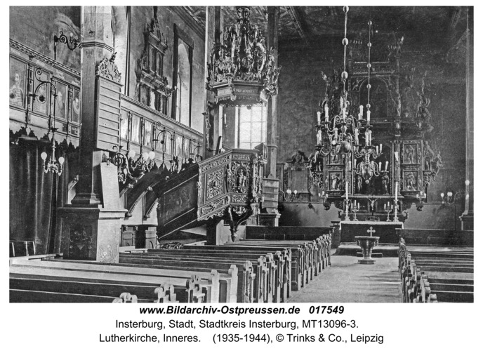Insterburg, Lutherkirche, Inneres