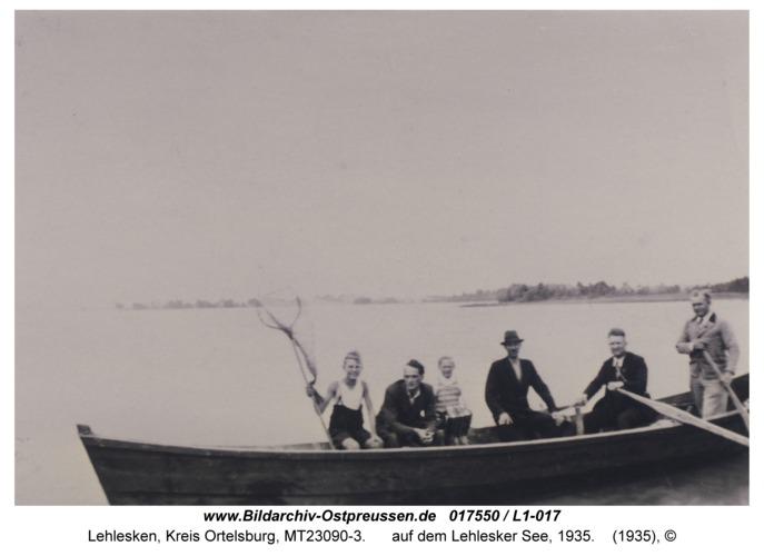 Lehlesken, auf dem Lehlesker See, 1935