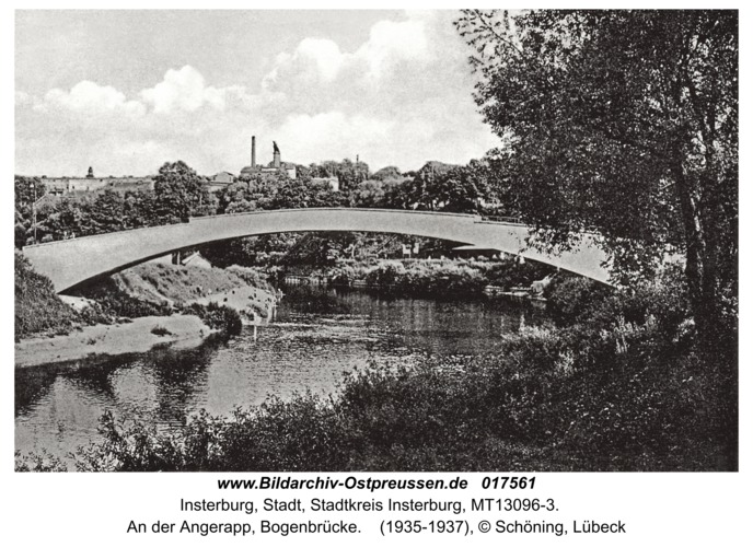 Insterburg, An der Angerapp, Bogenbrücke