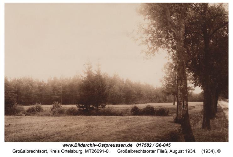 Großalbrechtsort, Großalbrechtsorter Fließ, August 1934