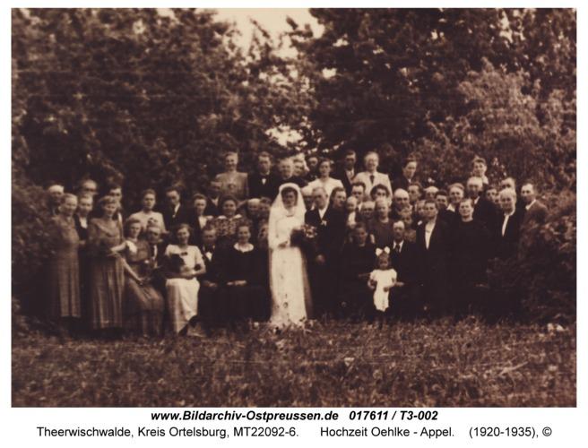 Theerwischwalde, Hochzeit Oehlke - Appel