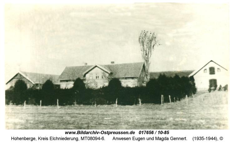 Hohenberge, Anwesen Eugen und Magda Gennert