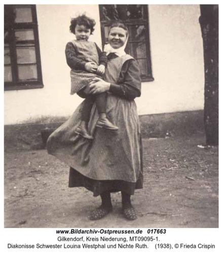Gilkendorf, Diakonisse Schwester Louina Westphal und Nichte Ruth