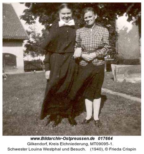Gilkendorf, Schwester Louina Westphal und Besuch