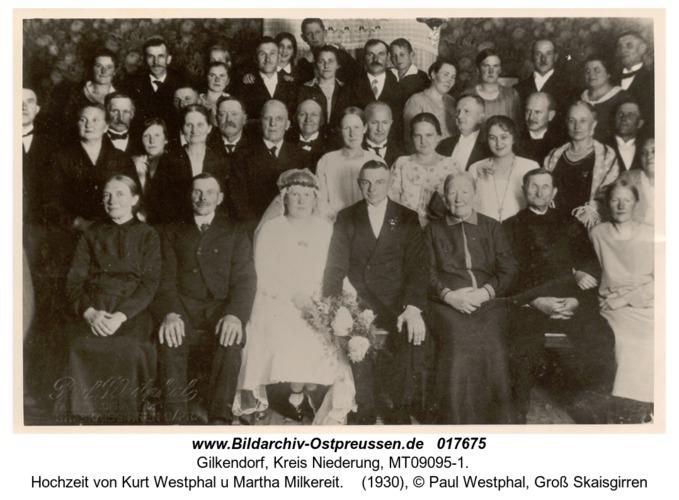 Gilkendorf, Hochzeit von Kurt Westphal u Martha Milkereit